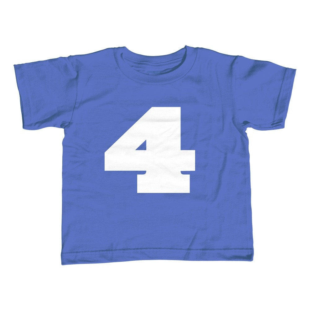 Boy's Fourth Birthday Four T-Shirt 4th Birthday
