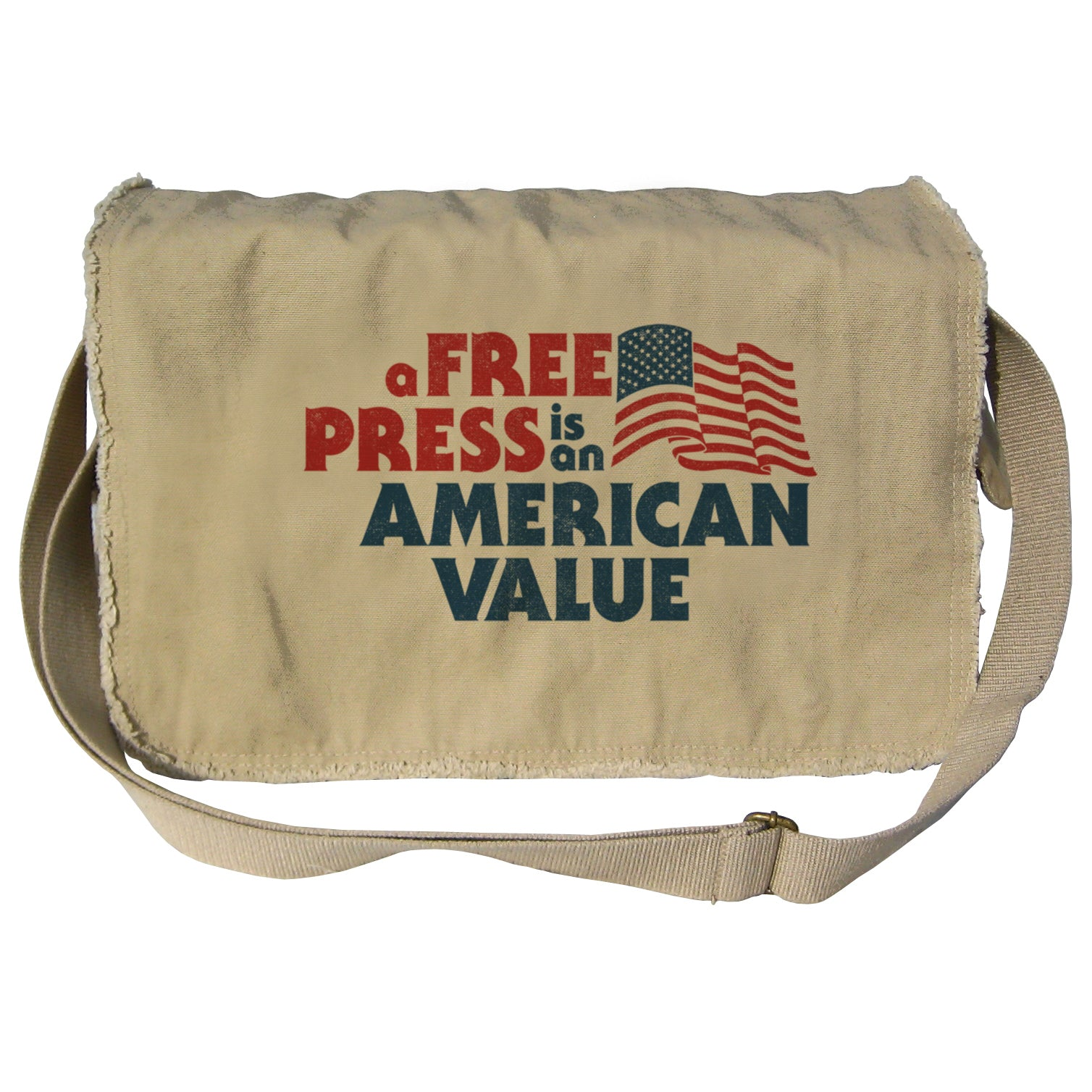 A Free Press is an American Value Messenger Bag