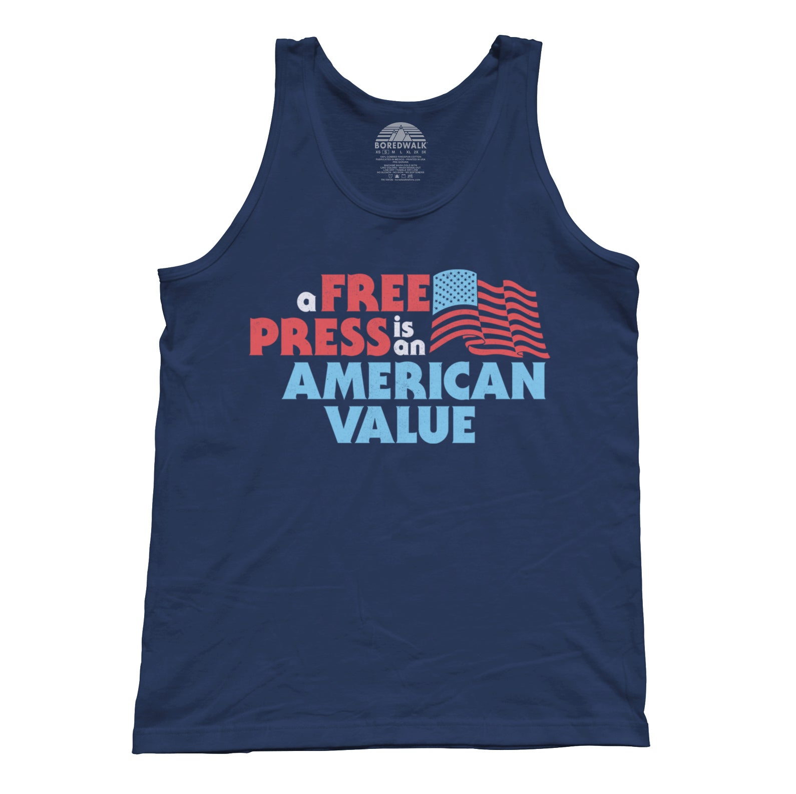 Unisex A Free Press is an American Value Tank Top