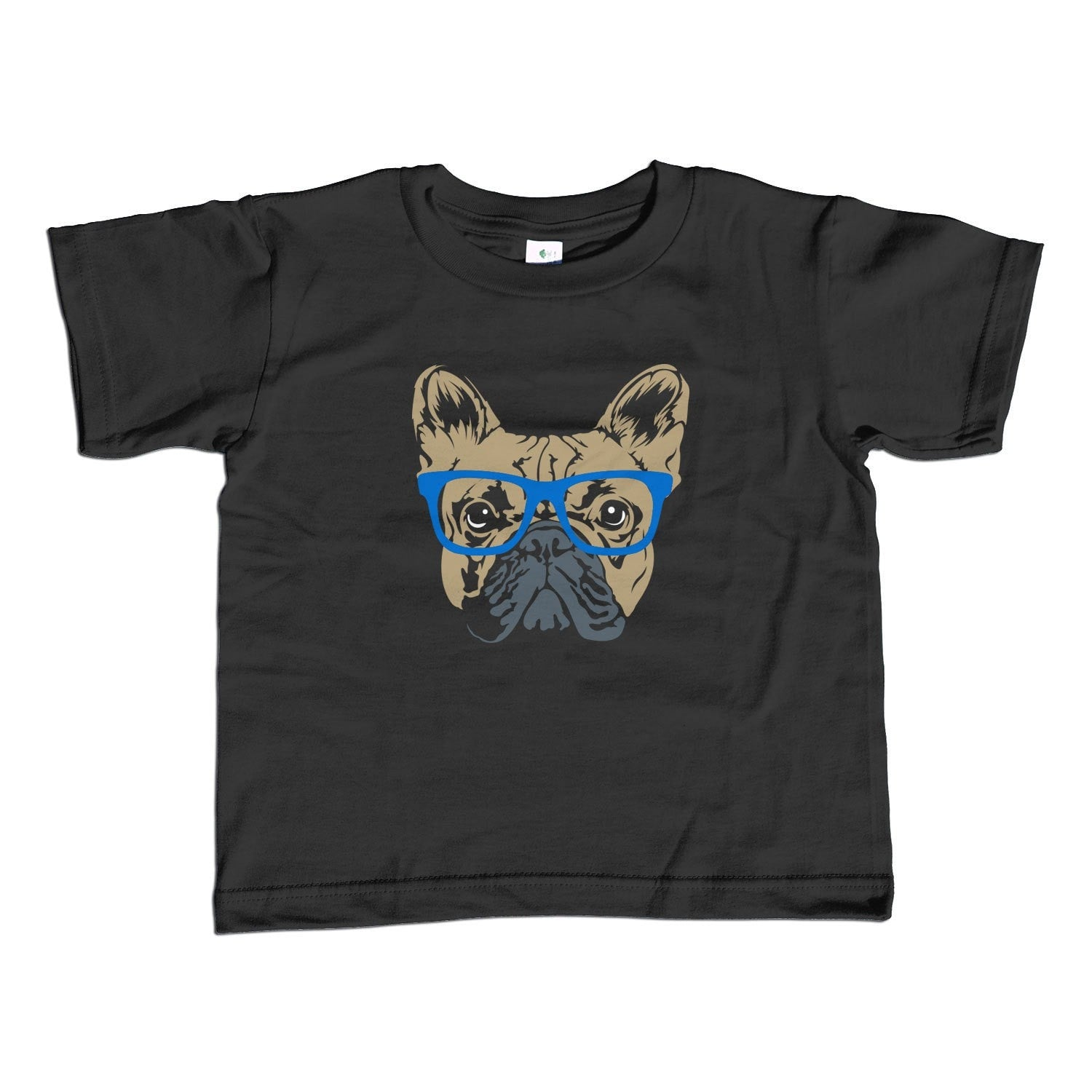 Boy's Glasses on a French Bulldog T-Shirt Hipster Frenchie