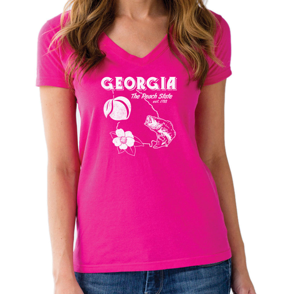 Women's Georgia Vneck T-Shirt