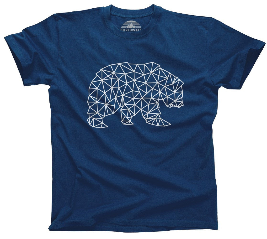 Men's Geometric Bear T-Shirt Triangles