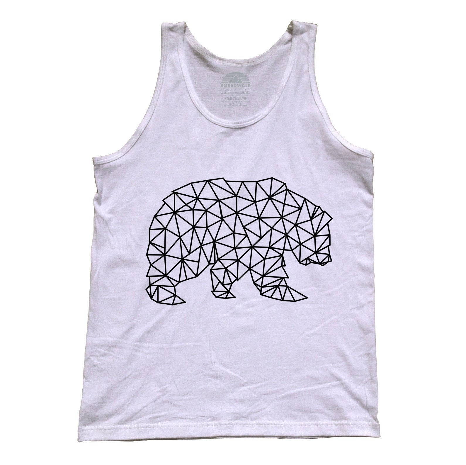 Unisex Geometric Bear Tank Top Triangles