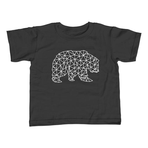 Girl's Geometric Bear T-Shirt - Unisex Fit Triangles