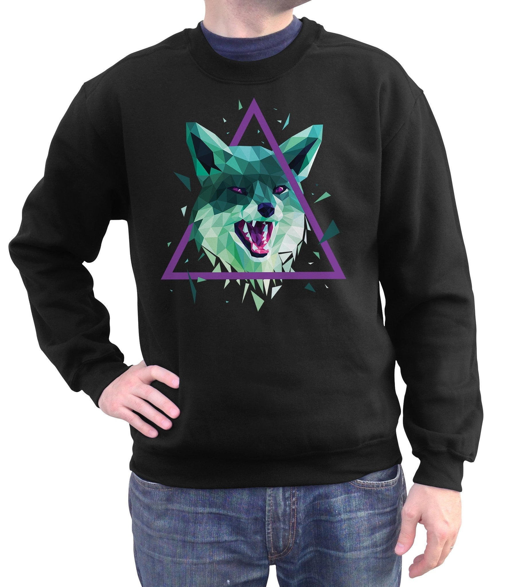 Unisex Geometric Fox Sweatshirt