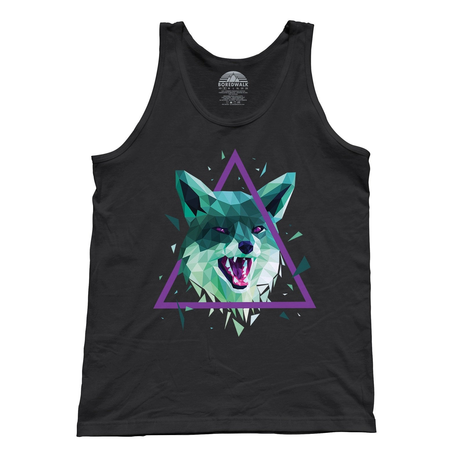 Unisex Geometric Fox Tank Top
