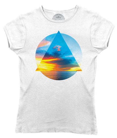 Women's Geometric Beach T-Shirt