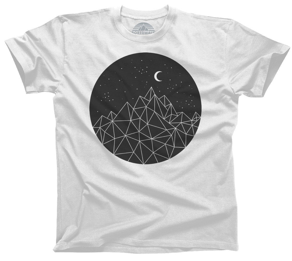 Mens Geometric Night T Shirt Boredwalk