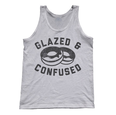 Unisex Glazed and Confused Donut Tank Top