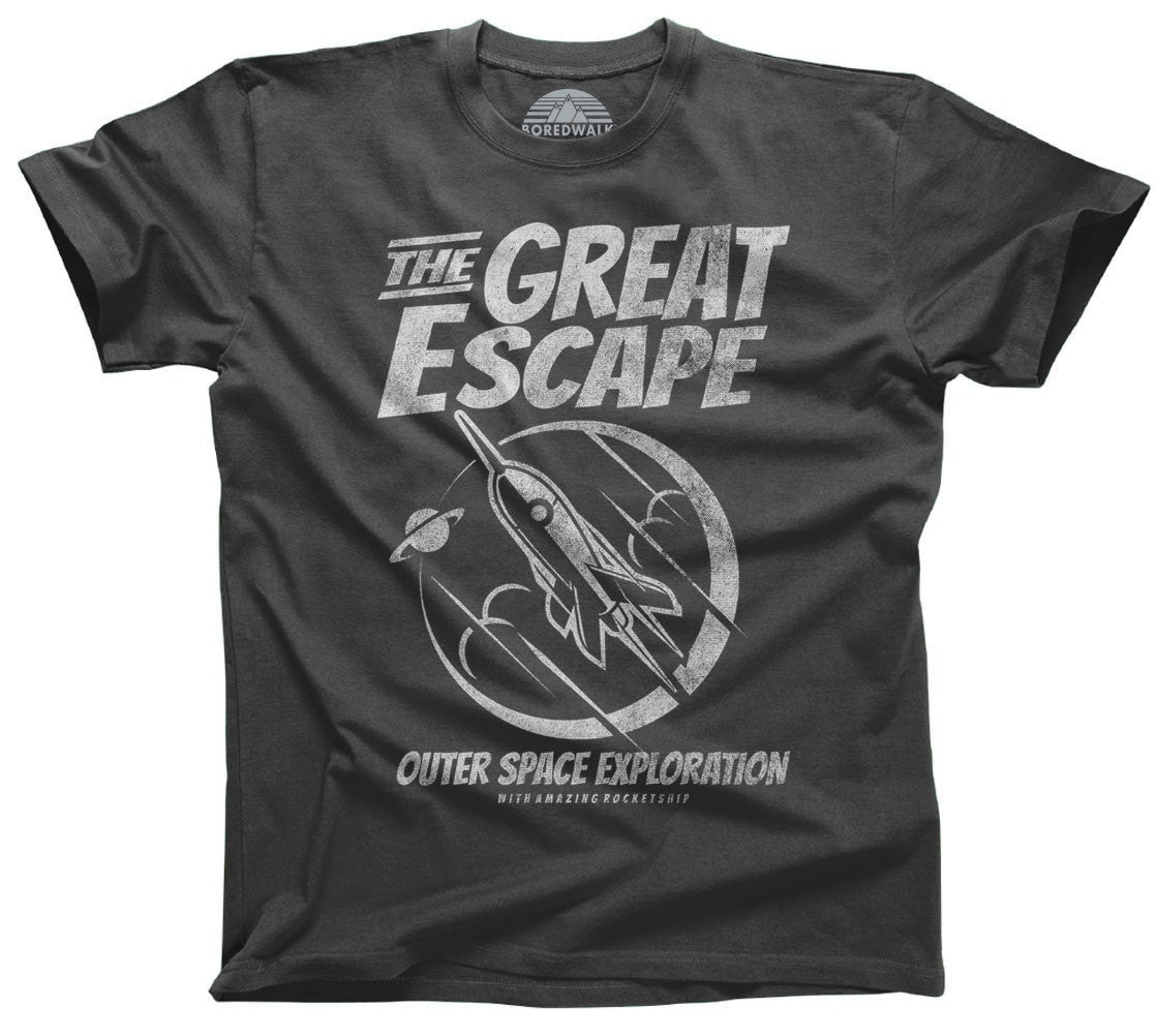 Men's The Great Escape Space Exploration T-Shirt Astronomy TShirt