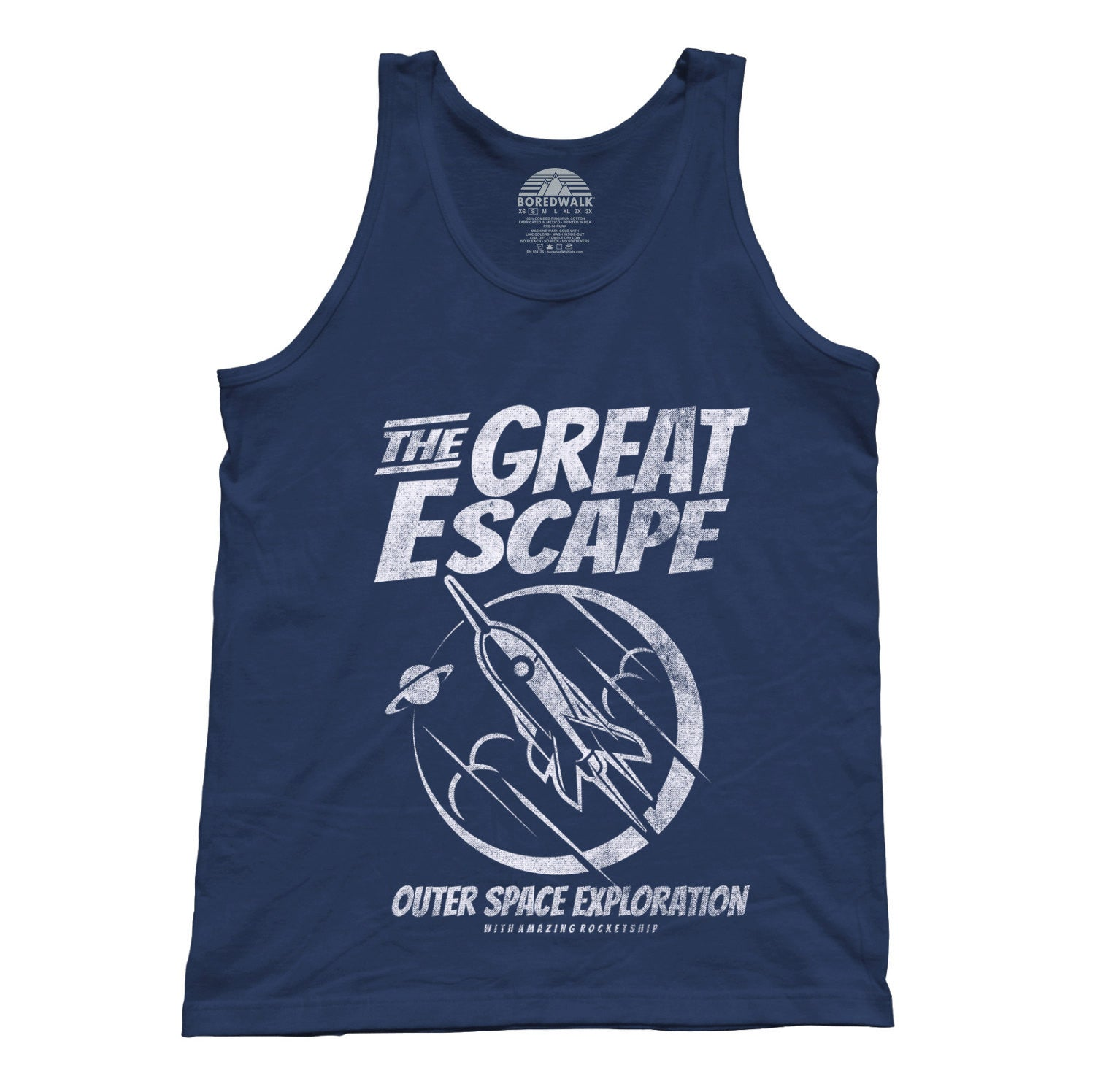 Unisex The Great Escape Space Exploration Tank Top Astronomy Tank Top