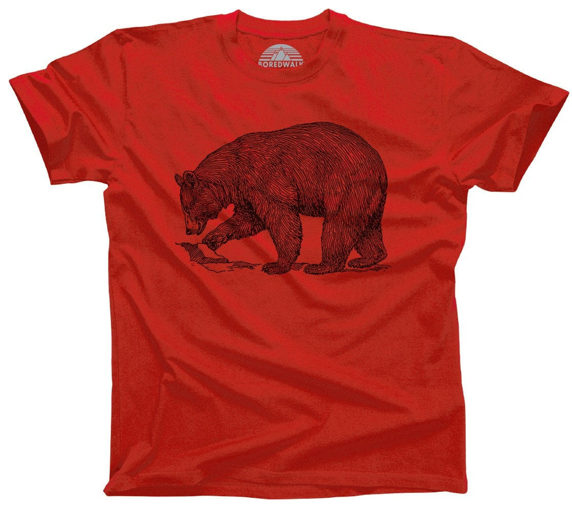 Men's Bear T-Shirt Vintage Illustration