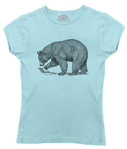 Women's Bear T-Shirt Vintage Illustration