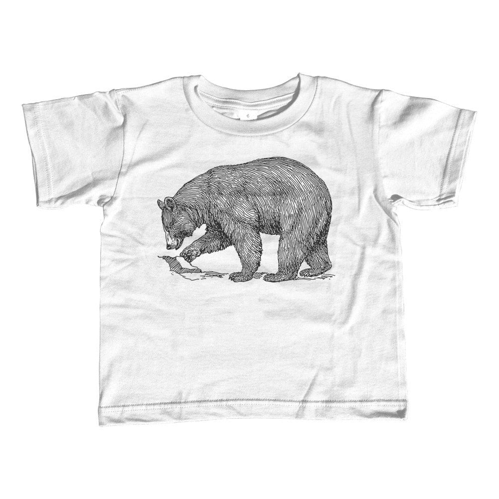 Girl's Bear T-Shirt - Unisex Fit Vintage Illustration