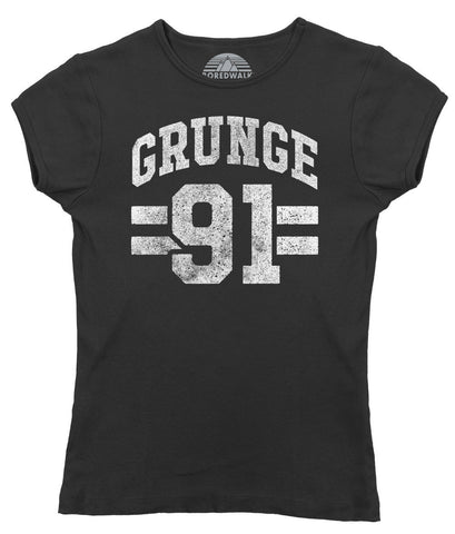 Women's Grunge 91 T-Shirt - Alternative 90s Music Punk Grunge Rock and Roll