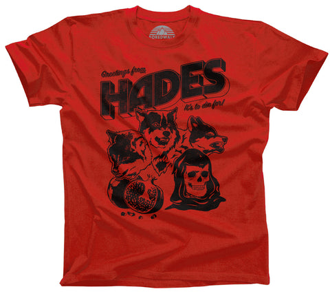 Boredwalk Greetings From Hades Funny Goth Tourism Shirt