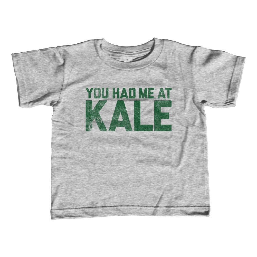 Boy's You Had Me At Kale T-Shirt Hipster Foodie