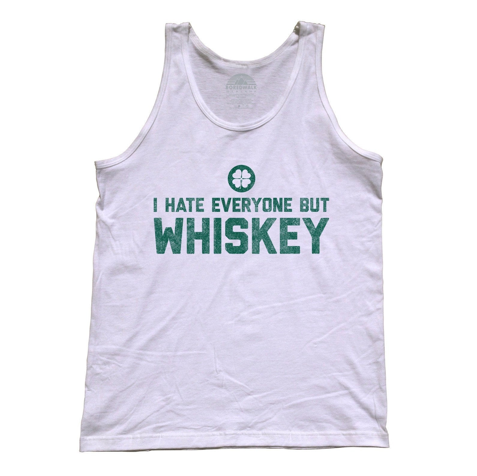 Unisex I Hate Everyone But Whiskey Tank Top