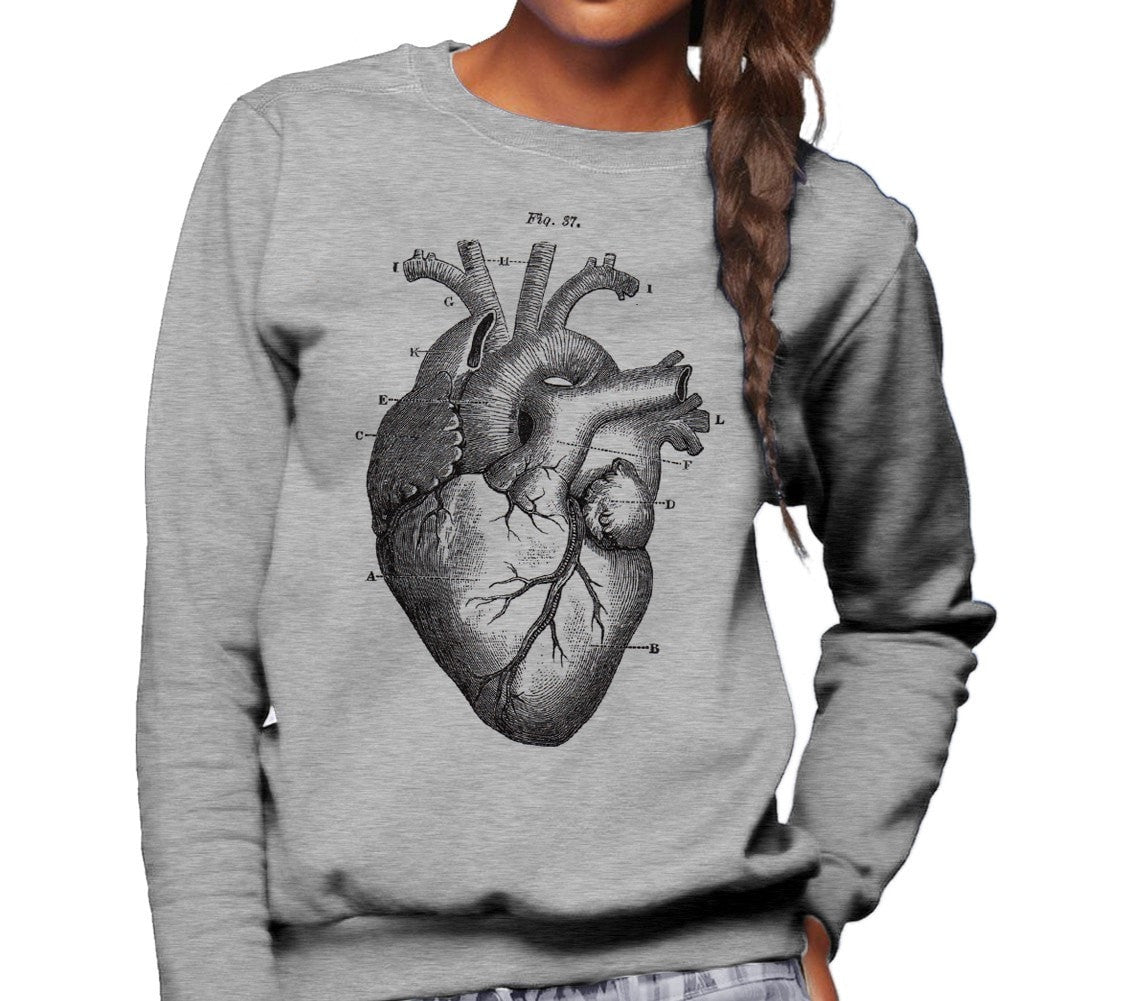Unisex Anatomical Heart Diagram Sweatshirt