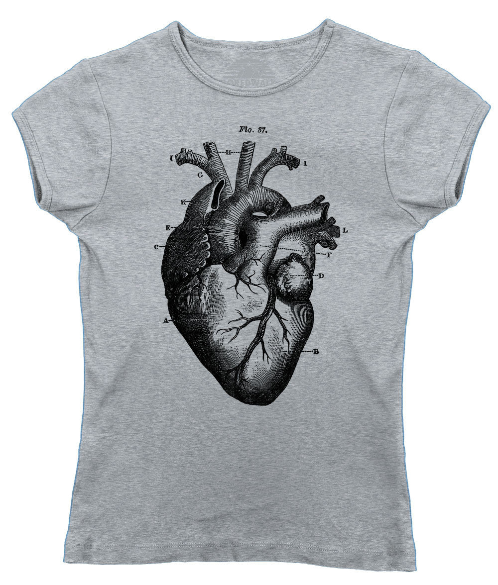 Women\'s Heart Anatomy Diagram T-Shirt – BoredWalk