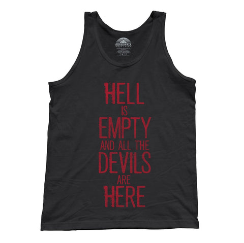 Unisex Hell is Empty and All the Devils are Here Shakespeare Tank Top
