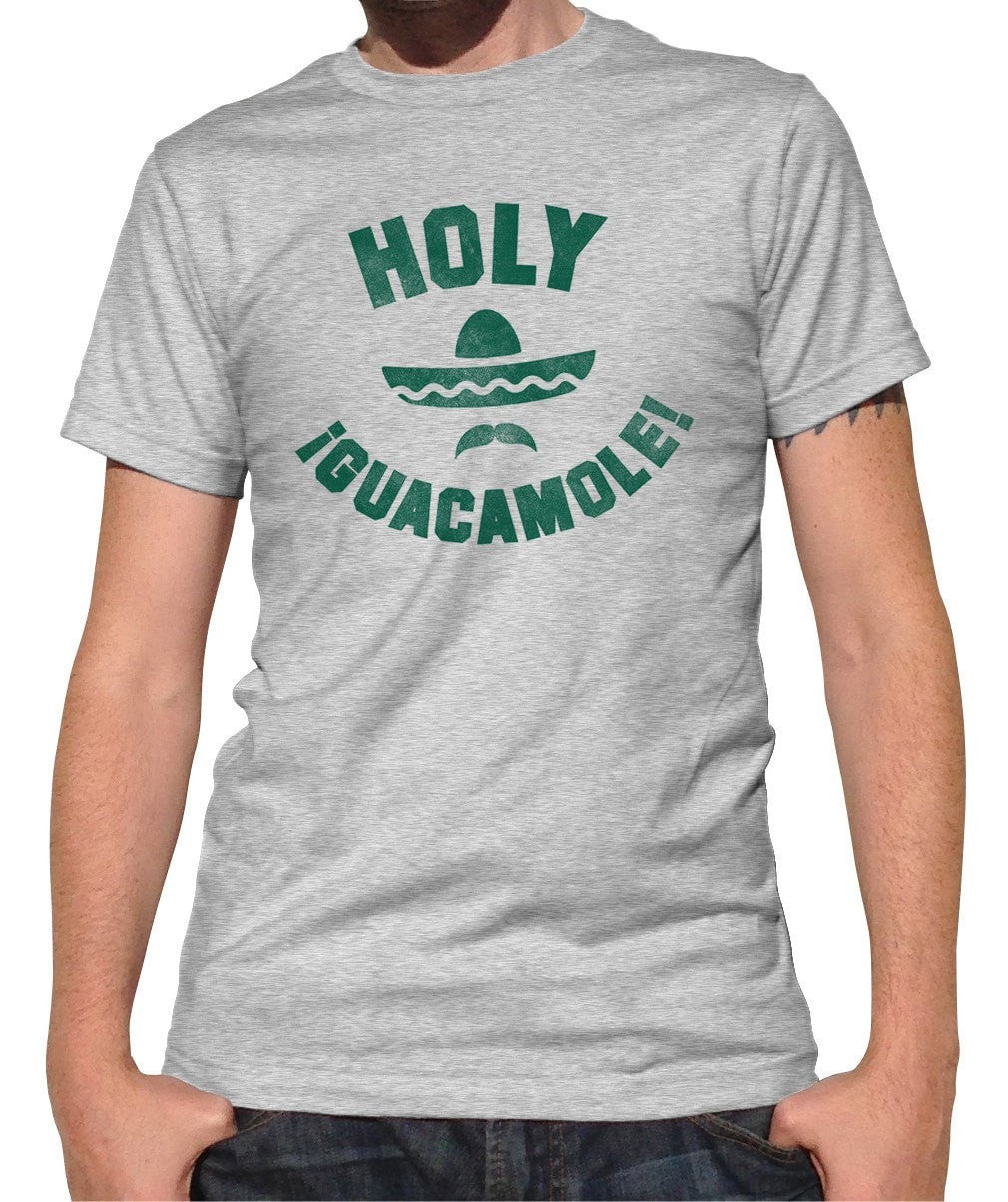 Men's Holy Guacamole T-Shirt Funny Hipster Foodie