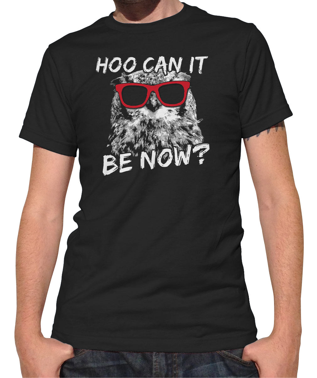 Men's Hoo Can It Be Now Funny Owl T-Shirt