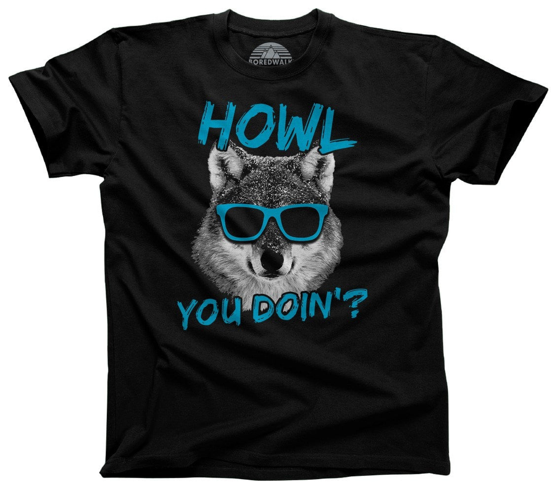 Men's Howl You Doin Funny Wolf T-Shirt