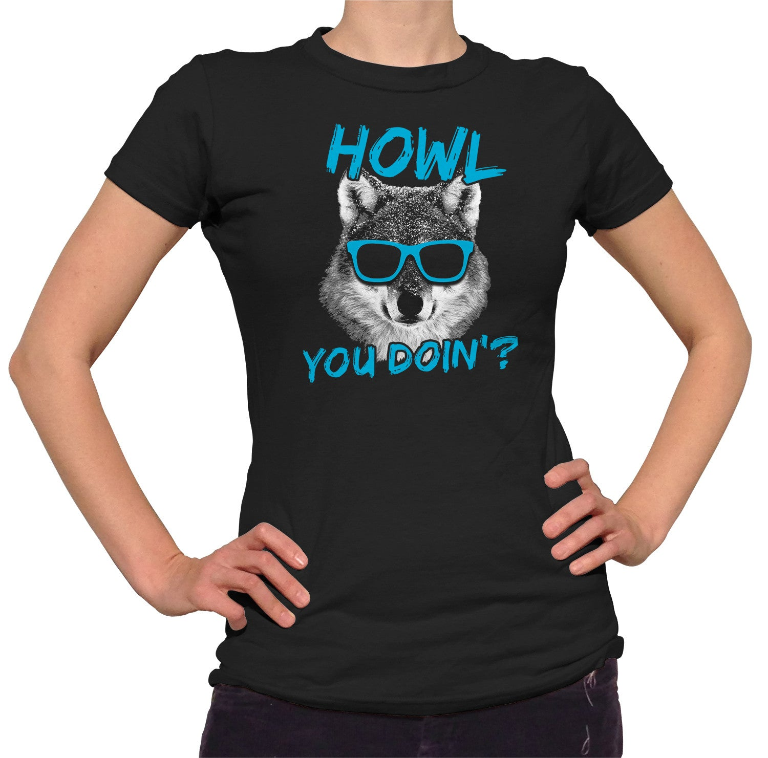 Women's Howl You Doin Funny Wolf T-Shirt