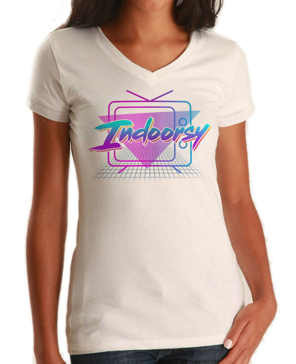 Women's Indoorsy Vneck T-Shirt