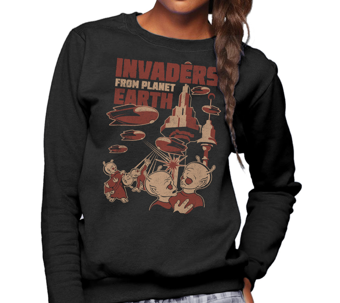 Unisex Invaders From Earth Sweatshirt - By Ex-Boyfriend