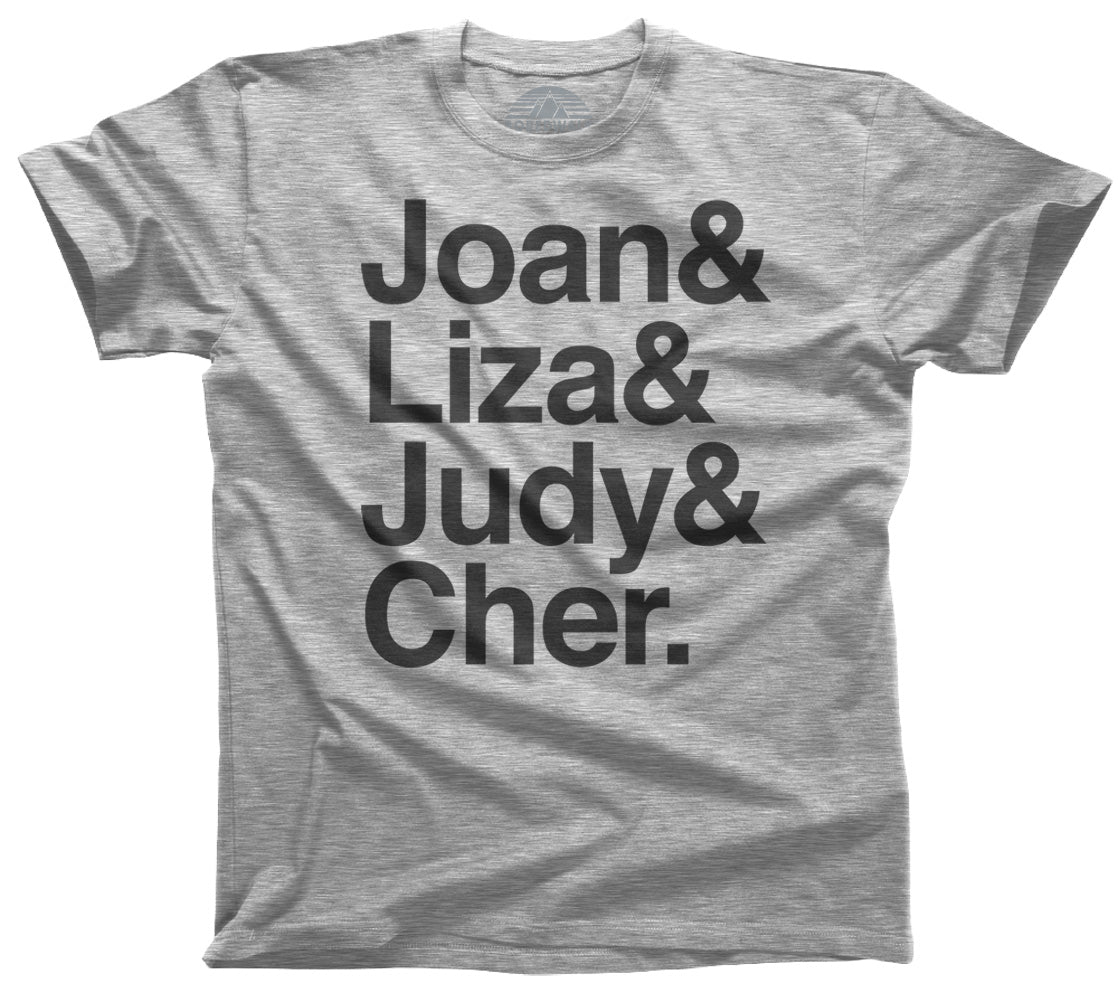 Men's Joan Liza Judy Cher Gay Icon T-Shirt