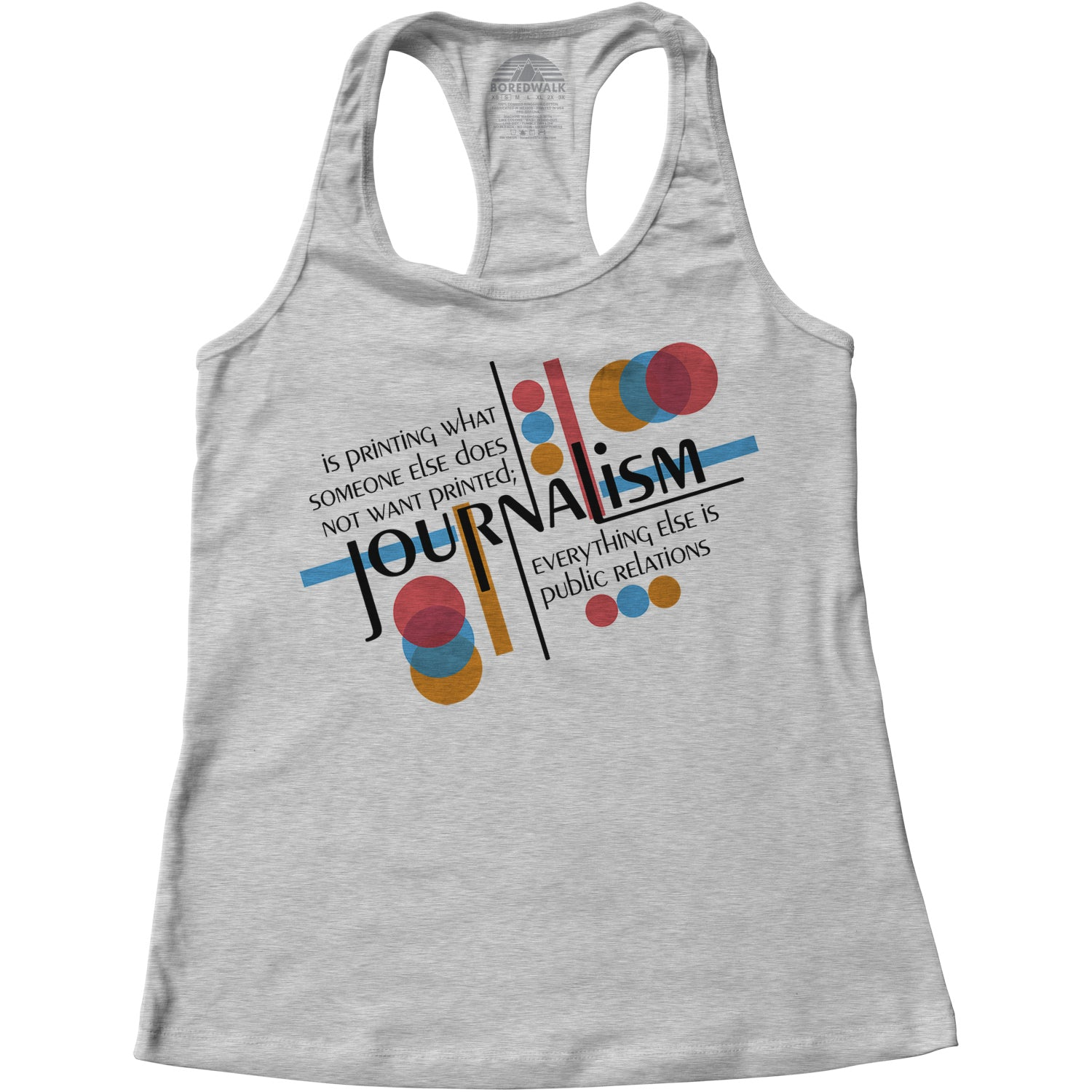Women's Journalism is Printing What Someone Does Not Want Printed Racerback Tank Top