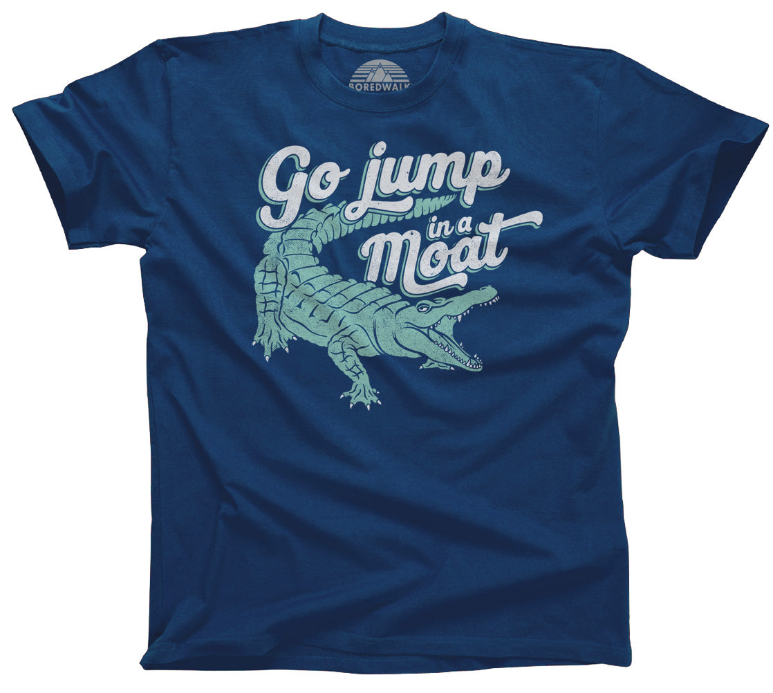 Men's Go Jump in a Moat Alligator T-Shirt