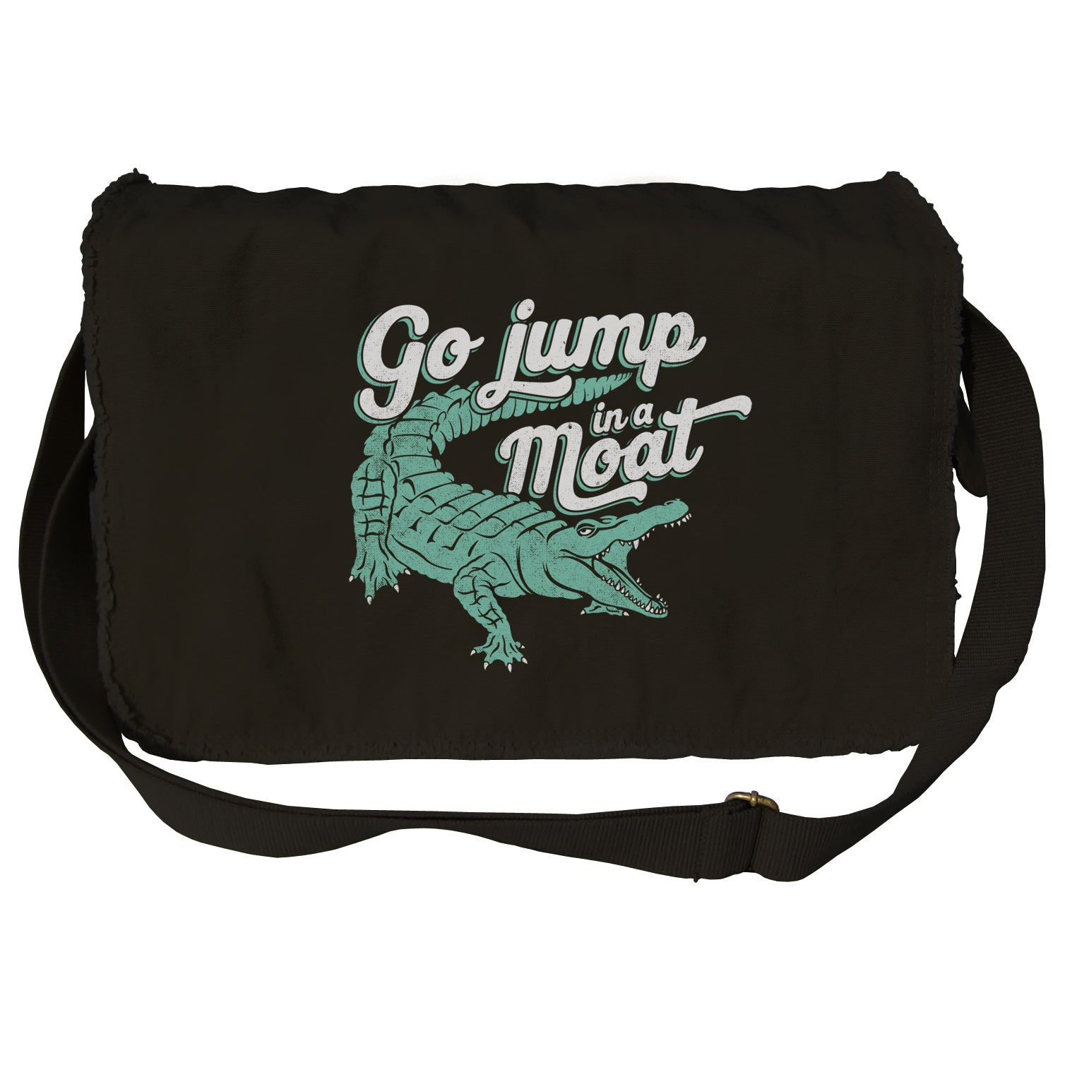Go Jump in a Moat Messenger Bag