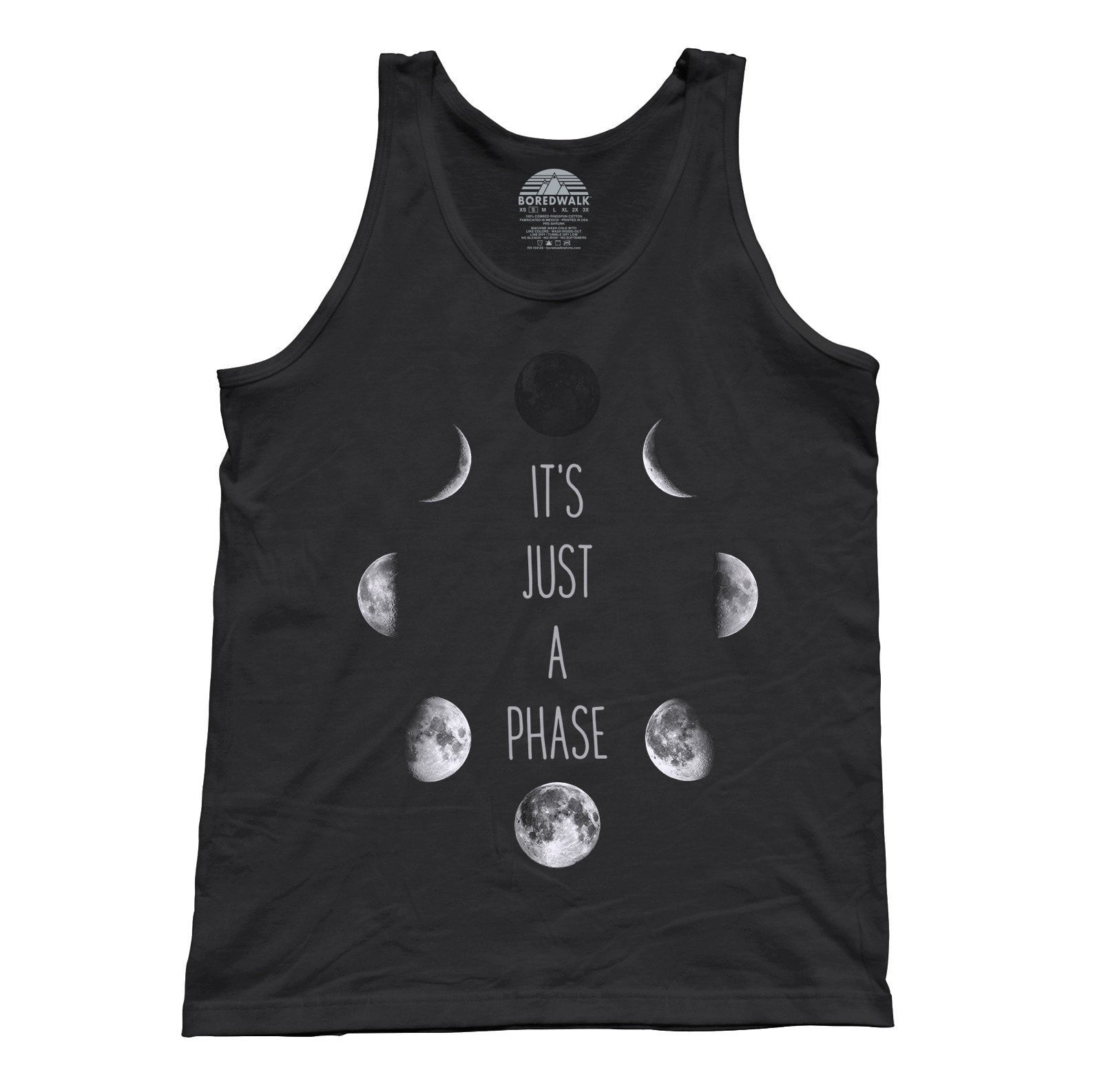 Unisex It's Just a Phase Moon Tank Top