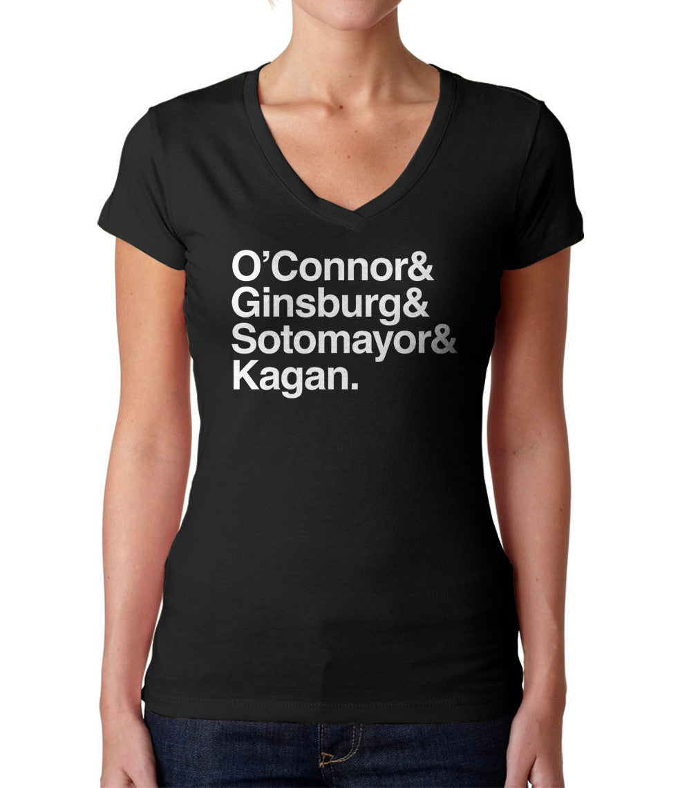 Women's O'Connor Ginsburg Sotomayor Kagan Vneck T-Shirt - Juniors Fit