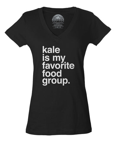 Women's Kale is My Favorite Food Group Vneck T-Shirt