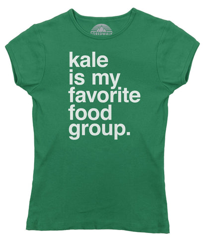 Women's Kale is My Favorite Food Group T-Shirt