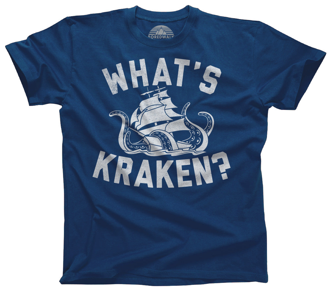 Men's What's Kraken Sea Monster T-Shirt