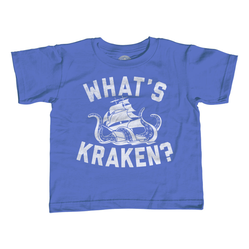 Girl's What's Kraken Sea Monster T-Shirt - Unisex Fit