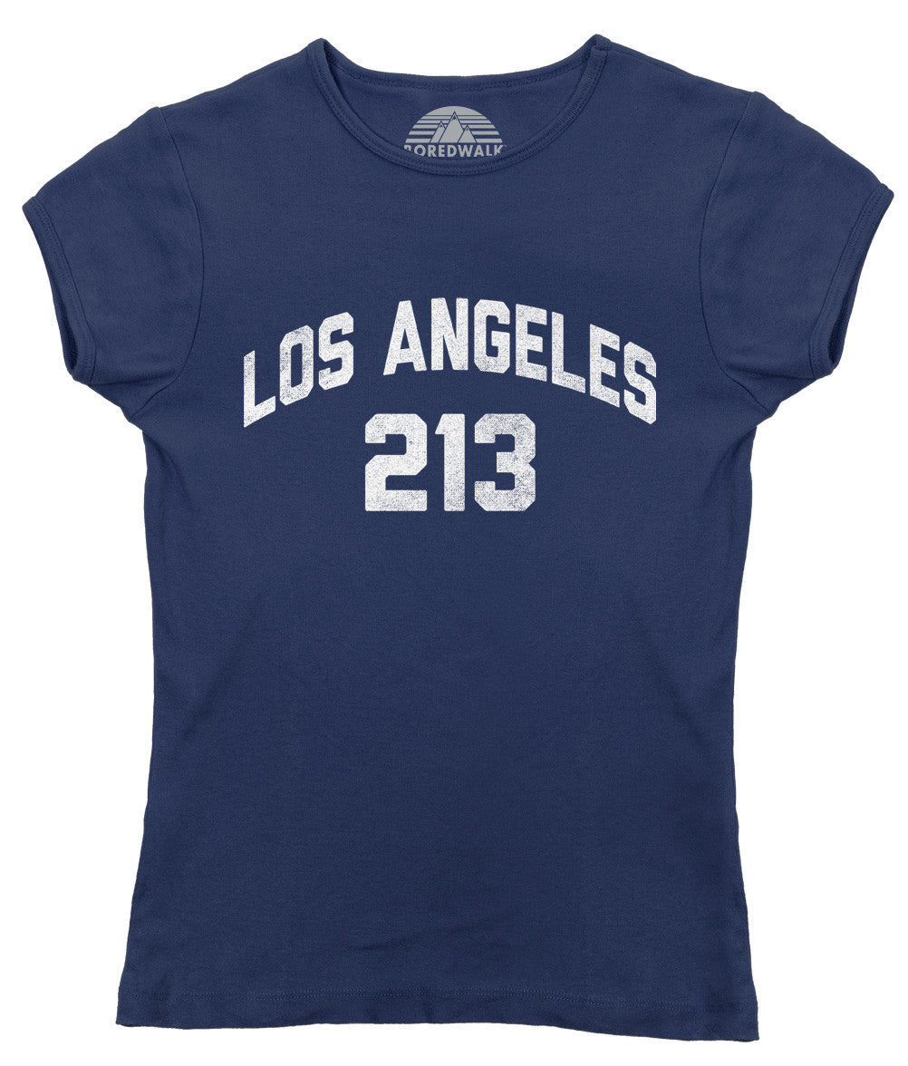 Women's Los Angeles 213 Area Code T-Shirt
