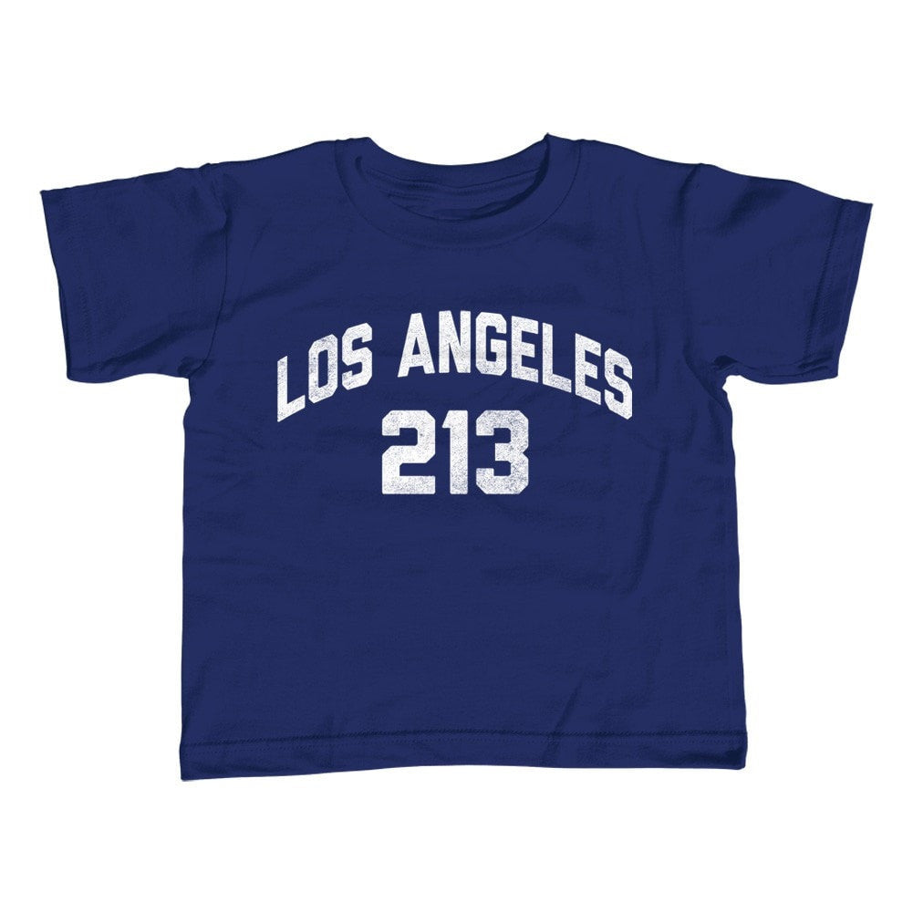 Girl's Los Angeles 213 Area Code T-Shirt - Unisex Fit