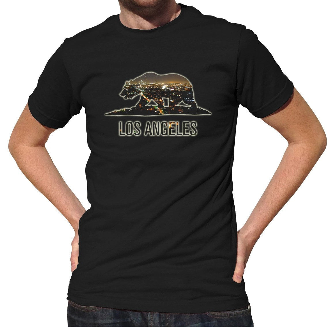 Men's Los Angeles by Night T-Shirt California