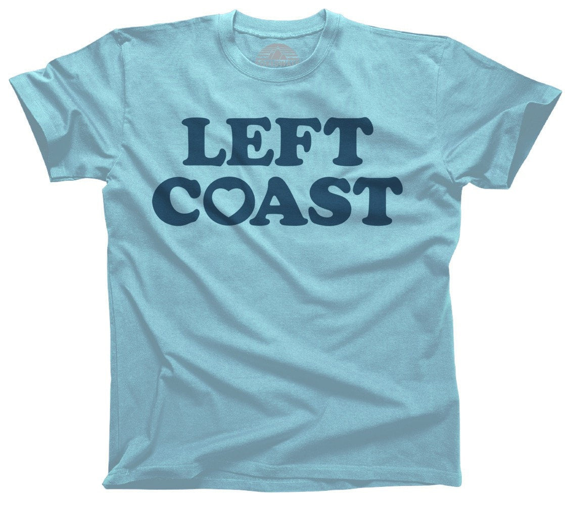 Men's Left Coast T-Shirt California Oregon Washingon West Coast