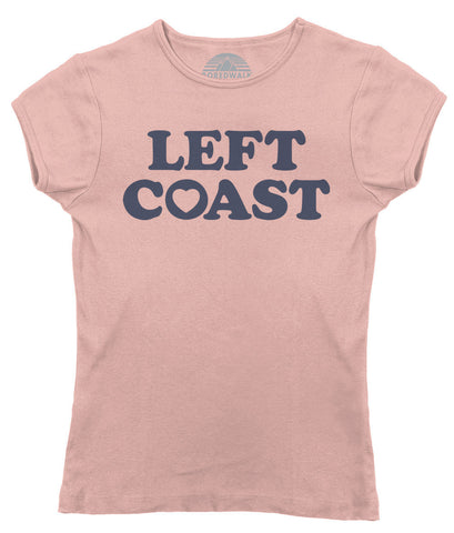 Women's Left Coast T-Shirt - California Oregon Washingon West Coast