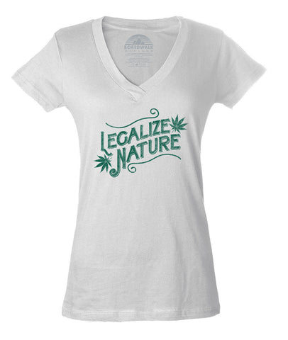 Women's Legalize Nature Vneck T-Shirt