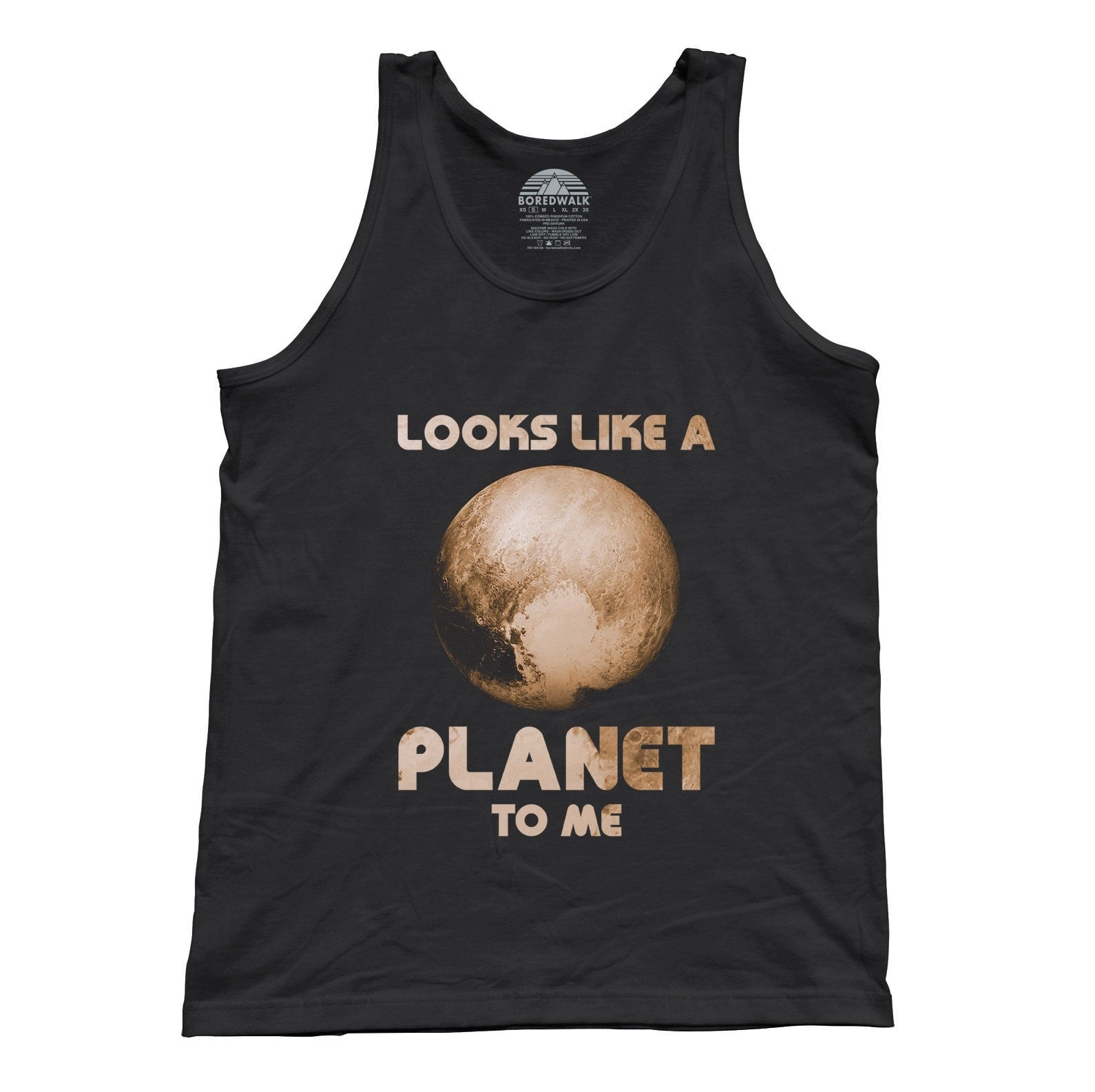 Unisex Pluto Looks Like a Planet to Me Tank Top