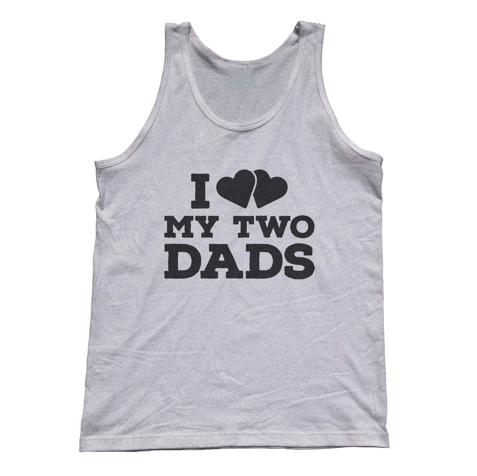 Unisex I Love My Two Dads Tank Top