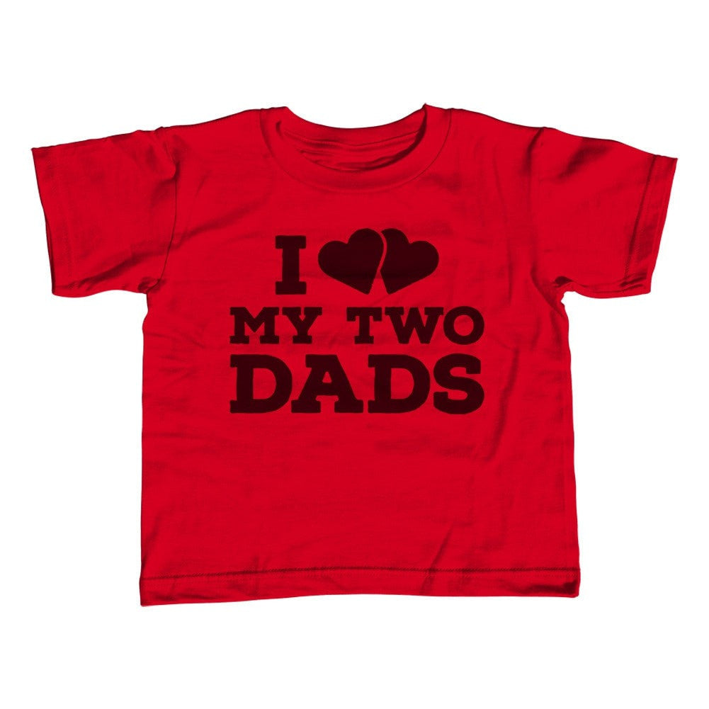 Boy's I Love My Two Dads T-Shirt
